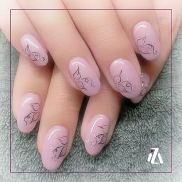Glitter pink lady